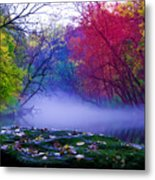 Misty Creek Metal Print
