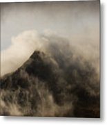 Misty Peak Metal Print