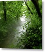 Misty Stream Metal Print