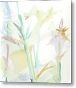 Mixed Stalks Morning Flowers Metal Print