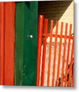 Mntrl Orange Gate 2  Metal Print