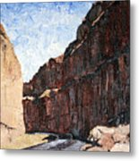 Moab Train Tracks Metal Print