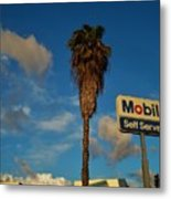 Mobil Self Serve Metal Print