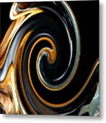 Mocha Swirl Metal Print