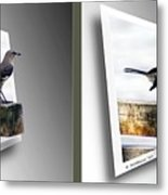 Mockingbird - Gently Cross Your Eyes And Focus On The Middle Image Metal Print