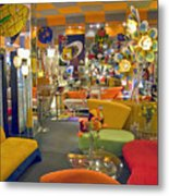Modern Deco Furniture Store Interior Metal Print
