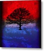 Modern Paintings Abstract Tree Wall Art Metal Print