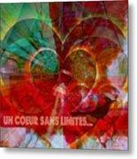 Mon Coeur - My Heart Metal Print