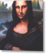 Mona Lisa Replica Metal Print