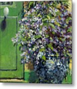 Monet's Entry Metal Print