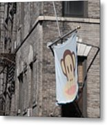 Monkey Flag Metal Print