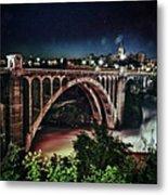 Monroe St. Bridge Metal Print