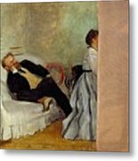 Monsieur And Madame Edouard Manet Metal Print