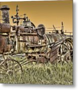 Montana Steam Punk - Nevada City Ghost Town Metal Print by Daniel Hagerman