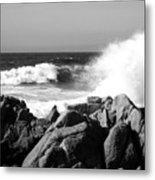 Monterey Waves Metal Print