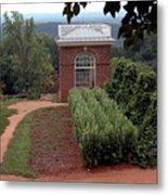 Monticello Vegetable Garden Pavilion Metal Print
