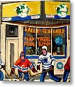 Montreal Poolroom Hockey Fans Metal Print