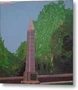Monument Of The Revolutionary War Of 1776 Metal Print by William Demboski