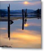 Mood On The Bay Metal Print by Idaho Scenic Images Linda Lantzy