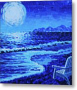 Moon Beach Metal Print