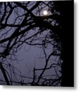 Moon In Inky Blue Sky Metal Print