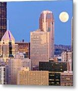 Moon Over Pittsburgh 2 Metal Print by Emmanuel Panagiotakis