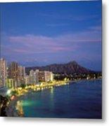 Moon Over Waikiki Metal Print