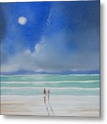 Moonlight At The Beach II Metal Print