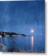 Moonlight On Mackinac Island Michigan Metal Print