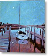 Moonlight On The Bay Metal Print by David Lloyd Glover