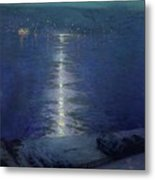 Moonlight On The River Metal Print by Lowell Birge Harrison