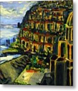 Moonlight Over Positano Metal Print