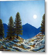 Moonlit Trail Metal Print