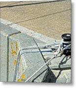 Mooring Ropes - Ryde Harbour Metal Print