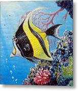 Moorish Idol Metal Print