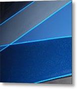 More And More Blue Metal Print