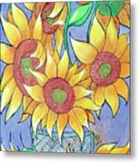 More Sunflowers Metal Print by Loretta Nash