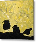 Morning Birds Metal Print