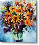 Morning Bouquet Metal Print