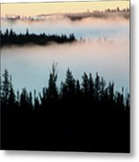 Morning Fog In Northern Saskatchewan Metal Print