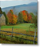 Morning Grove - New England Fall Monadnock Farm Metal Print