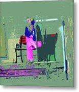 Morning In Her Pink Pajamas Metal Print