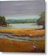 Morning In The Salt Marsh Metal Print