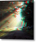Morning Light - Use Red-cyan 3d Glasses Metal Print