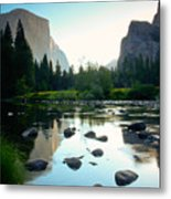 Morning Light On El Capitan Metal Print