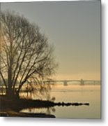 Morning On The Bay Bridge Metal Print