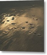 Morning Reflections And Bubbles On Sand Metal Print