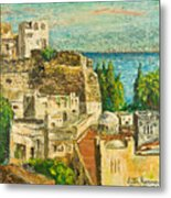 Morocco Palette Knife In Oil By Victor Herman Metal Print