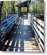 Morris Bridge Boardwalk Metal Print