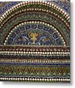 Mosaic And Shell Fountain Getty Villa Malibu California Metal Print